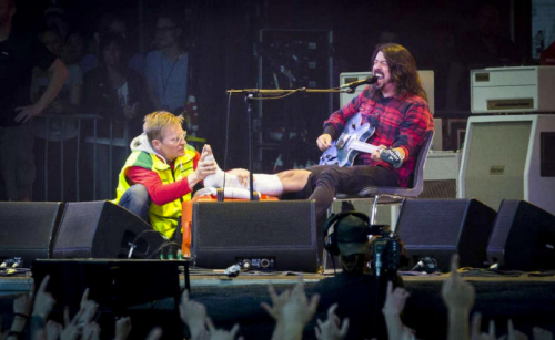 Foo Fighters Dave ankle fracture III